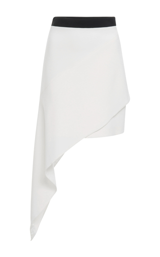 Medium david koma white asymmetrical hem mini skirt