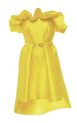 Medium alexis mabille yellow yellow corolla bustier dress