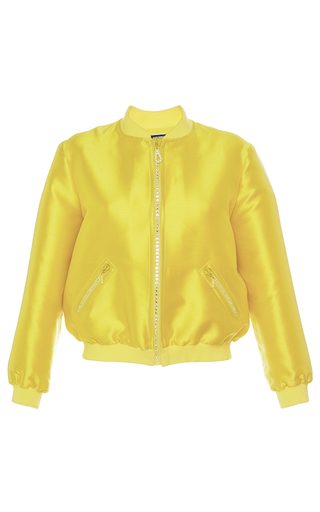 Medium alexis mabille yellow alexis bomber jacket