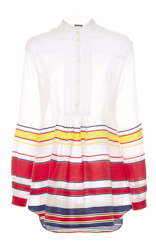 Medium alexis mabille multi striped long sleeve tunic