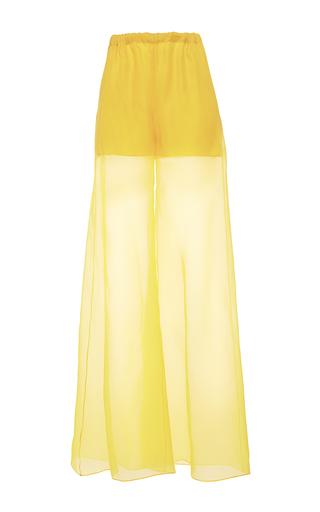 Medium alexis mabille yellow wide leg organza trousers
