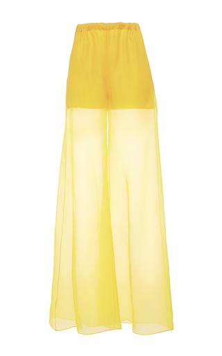 Medium alexis mabille yellow wide leg organza trousers