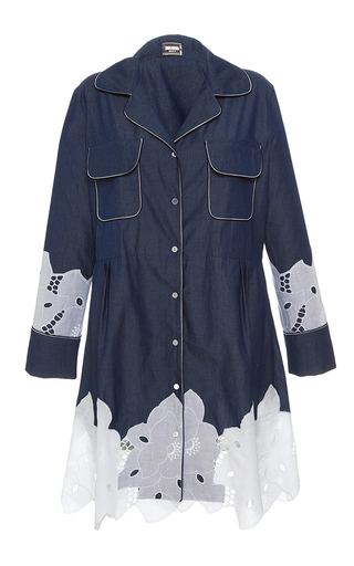Medium alexis mabille blue chambray mini shirt dress