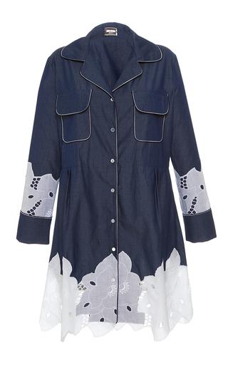 Medium alexis mabille blue chambray mini shirt dress