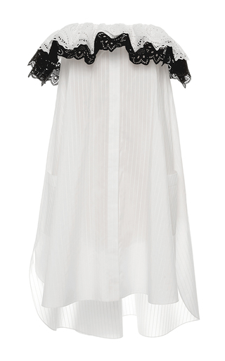 Medium alexis mabille white white corolla bustier dress