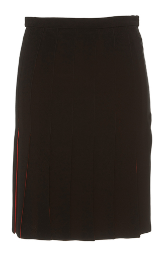 Medium alexis mabille black crepe ribbon skirt