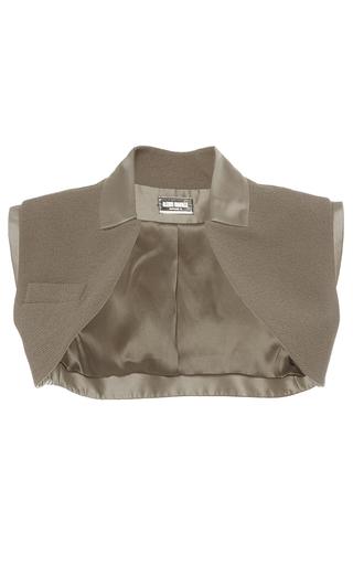 Medium alexis mabille bronze sleeveless cropped bolero
