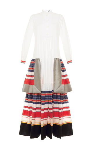 Medium alexis mabille white tiered poplin tunic dress