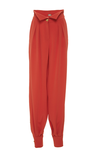Medium alexis mabille coral high waisted crepe trousers