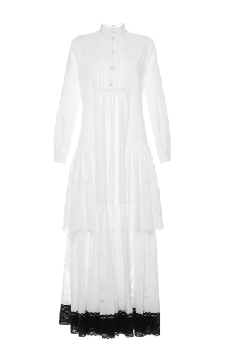 Medium alexis mabille white long striped cotton tunic
