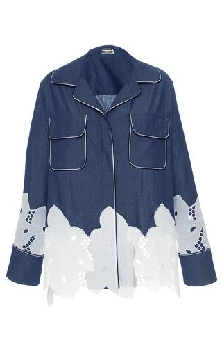 Medium alexis mabille blue chambray pajama shirt
