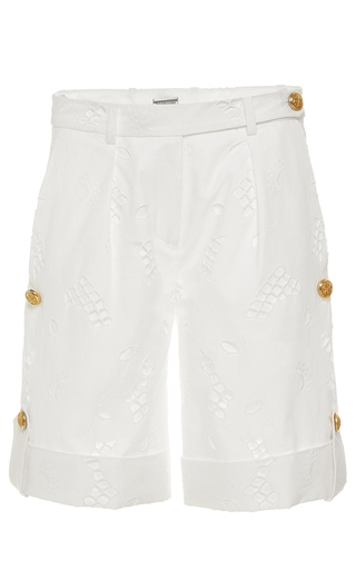 Medium alexis mabille blue eyelet shorts