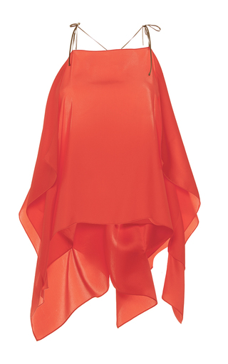 Medium alexis mabille coral open shoulder scarf top