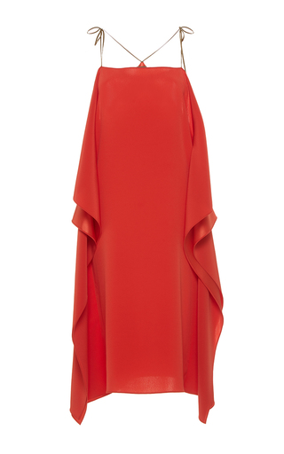 Medium alexis mabille coral open shoulder scarf dress
