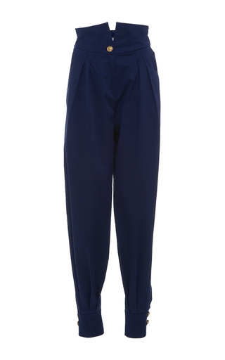Medium alexis mabille navy high waisted trousers