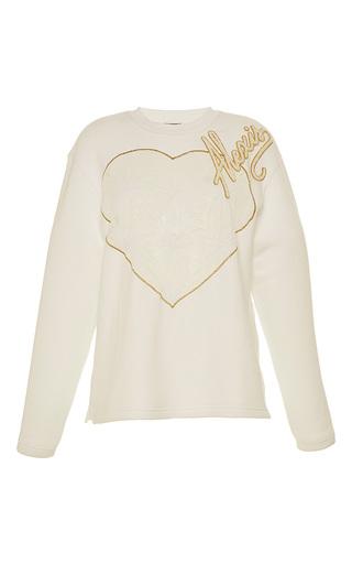 Medium alexis mabille white tulle heart long sleeve sweatshirt