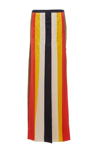 Medium alexis mabille multi long satin multi crepe ribbon skirt