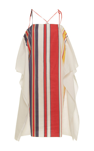 Medium alexis mabille multi bayadere striped scarf dress