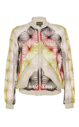 Medium alexis mabille multi tulle bomber jacket