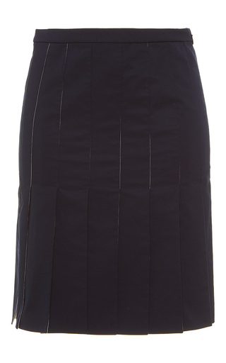 Medium alexis mabille black paneled mini length skirt