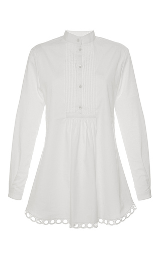 Medium alexis mabille white embroidered poplin tunic