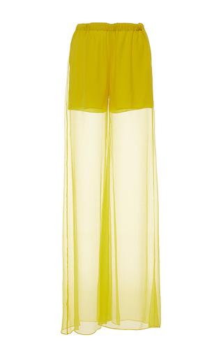 Medium alexis mabille yellow wide leg chiffon trousers