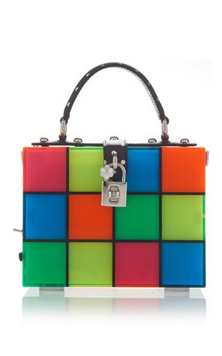 Medium dolce gabbana multi multicolor squares top handle bag