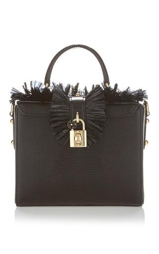 Medium dolce gabbana black ribbon top handle bag