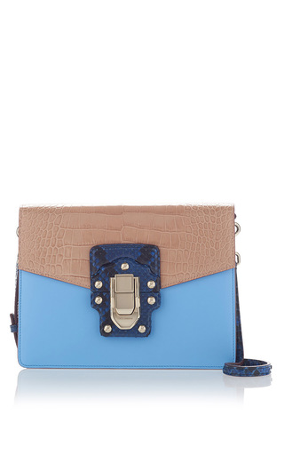 Medium dolce gabbana light blue python shoulder bag 2