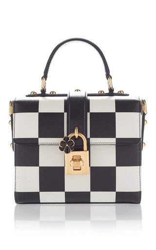 Medium dolce gabbana black check shoulder bag