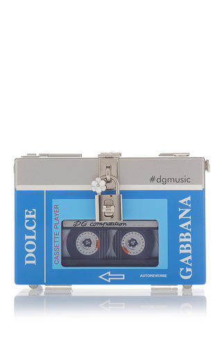 Medium dolce gabbana light blue cassette player shoulder bag