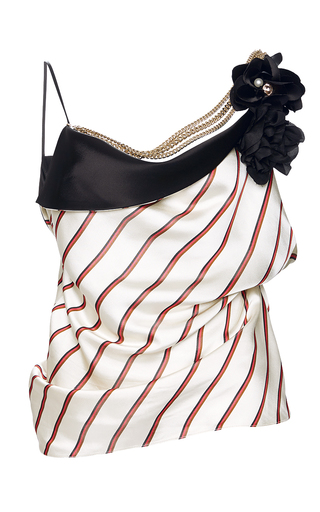 Medium lanvin ivory striped cami top