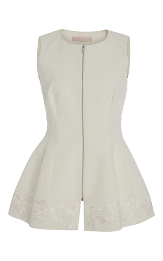 Medium brock white tanya trench zipper top