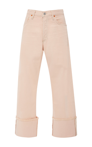 Medium citizens of humanity pink parker cropped jeans