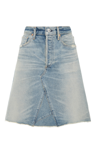 Medium citizens of humanity light wash liya high waist denim skirt