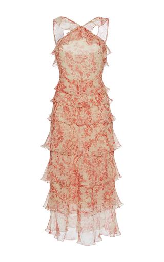 Medium vilshenko print giovana printed tiered ruffle dress
