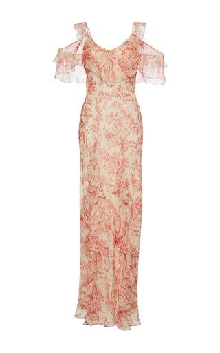 Medium vilshenko print ladonna cold shoulder fitted dress