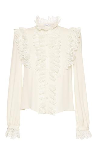 Medium vilshenko ivory ramona ruffle blouse