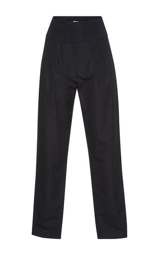 Medium vilshenko black hazel high waisted pleat detail ankle pants