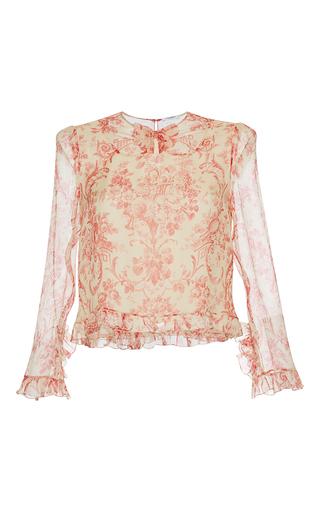 Medium vilshenko print oksana printed silk blouse