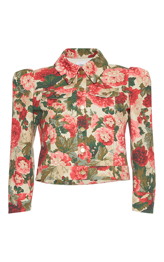 Medium vilshenko floral renata floral cropped jacket
