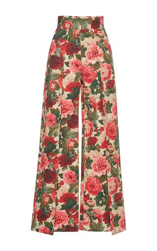 Medium vilshenko floral bronislava floral pleated wide leg pants