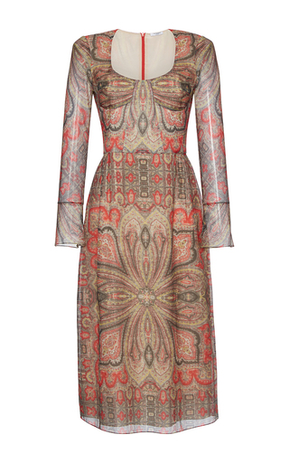 Medium vilshenko print inka printed long sleeve dress
