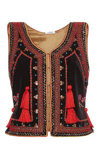 Medium vilshenko multi nadia embellished vest