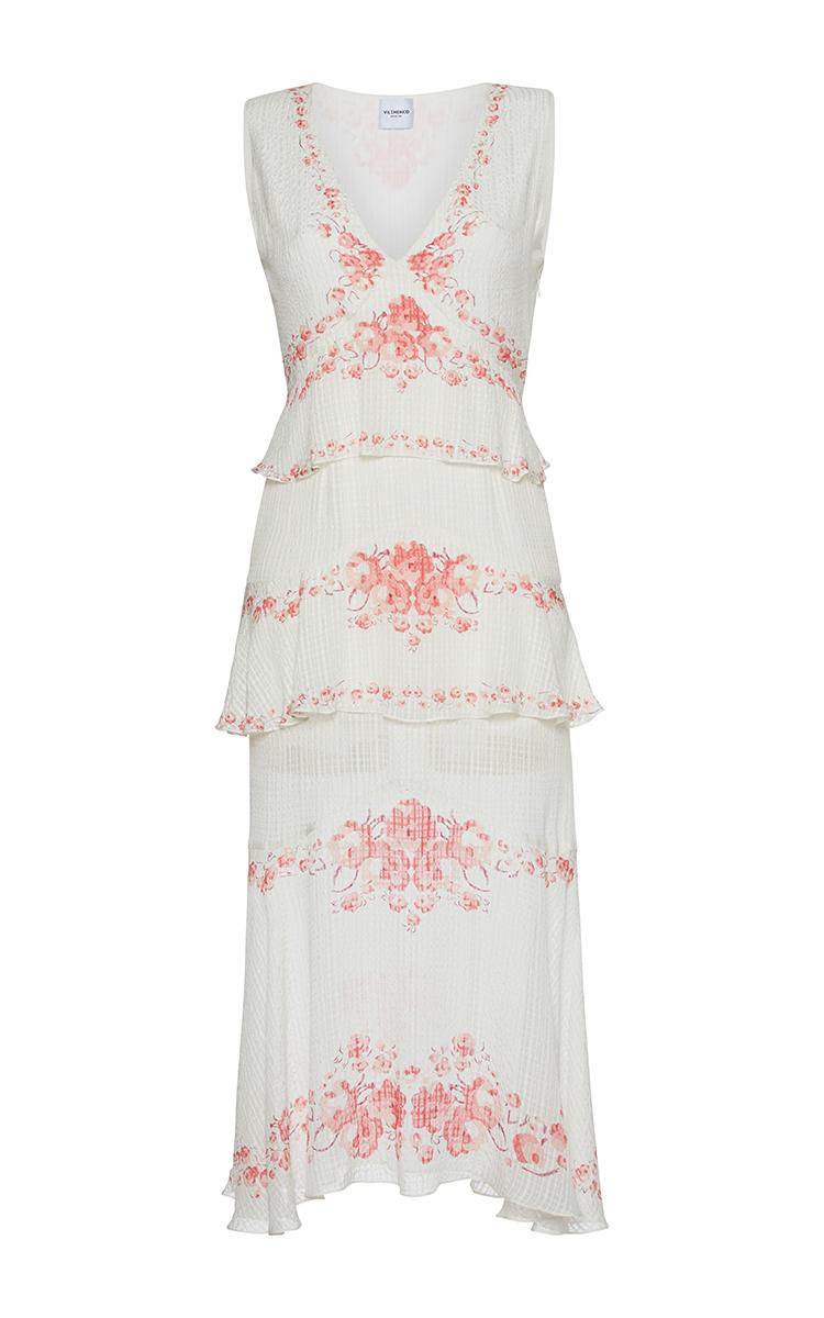 067ad7d96b Maya Printed V Neck Midi Dress by Vilshenko   Moda Operandi
