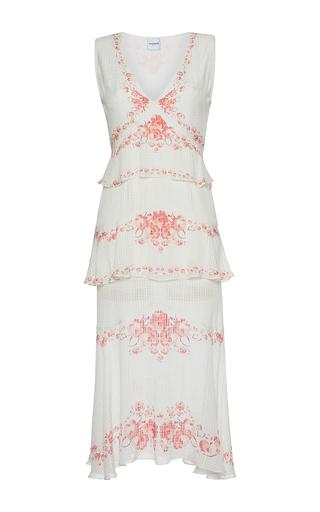 Medium vilshenko print maya printed v neck midi dress