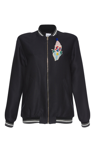 Medium vilshenko multi phoenix clown embroidered varsity jacket