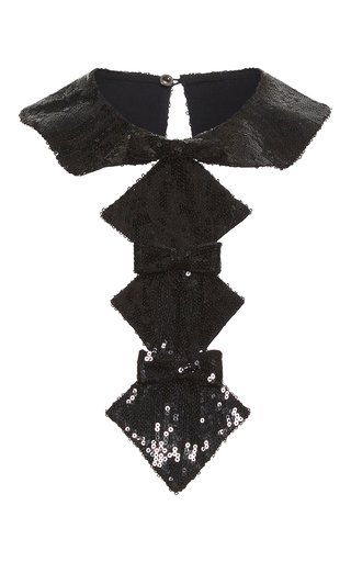 Medium vilshenko black klara sequin collar