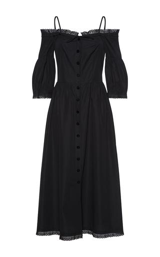 Medium vilshenko black irina off the shoulder midi dress