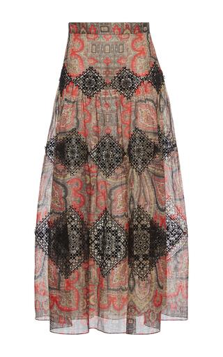 Medium vilshenko print vineta high waisted maxi skirt
